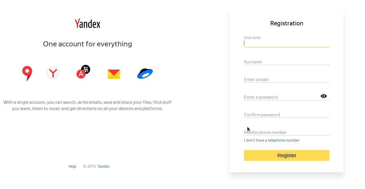 Yandex企业域名邮箱申请教程