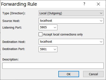 Xshell / Forwarding Rule